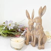Driftwood Effect Pair Of Hares